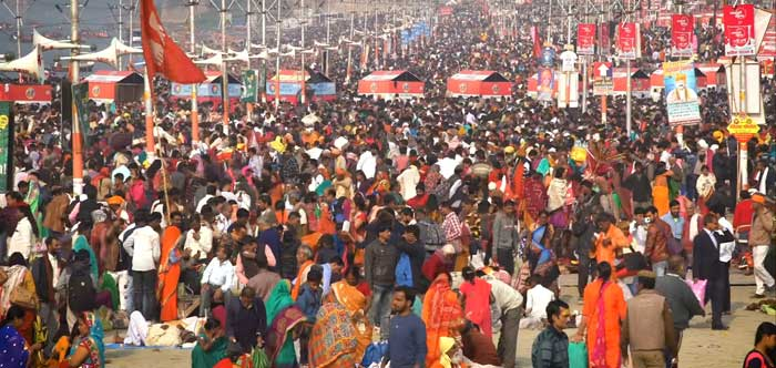 India People highest gathering at Kumbh Mela