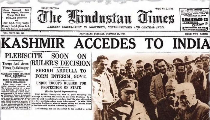 Kashmir Accedes to India on 27th October 1947