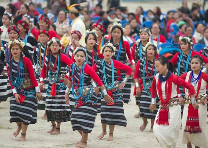 Arunachal Pradesh Population celebrating Nyokum