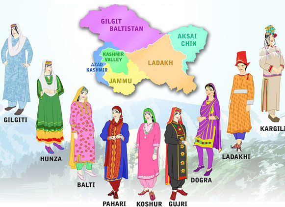Jammu Kashmir ethnic culture and dress