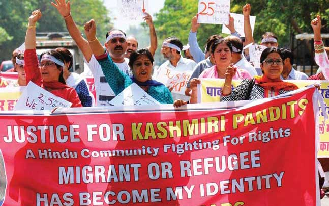 Kashmir Pandits demonstration