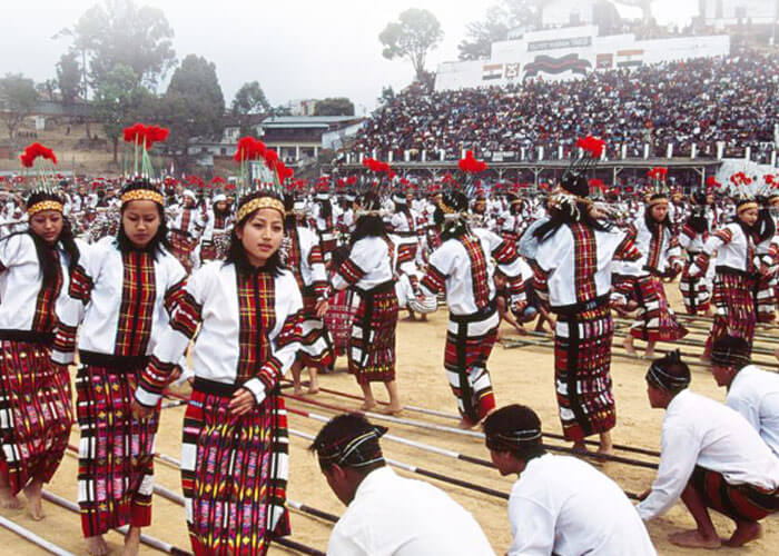 Mizoram Population celebrating of Cheraw dance