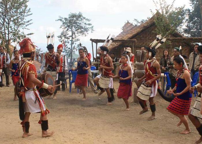 Nagaland Population celebrating Moatsu