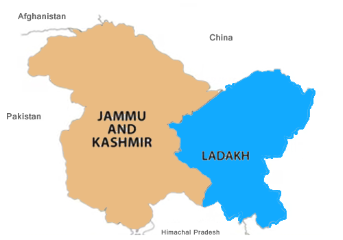 New Jammu Kashmir Map