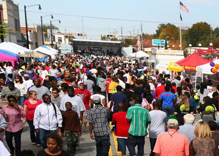 South Carolina Population, gathering at Pecan Festival