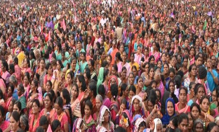 Telangana Population, gathering of telugu people at karimnagar meeting, Nov 2018