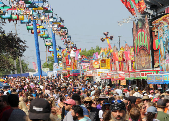 Wisconsin Population, gathering at State Fair Park